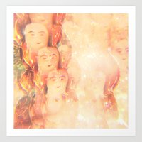 angels Art Prints featuring Angels by Johnny Cashley