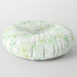 Cannabis Leaf (White Glow) - Grass Floor Pillow