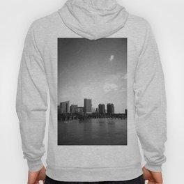 Richmond, Virginia Skyline in Black and White - Film Photograph Hoody