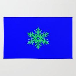 Snowflake in Blue Field, Gift Rug