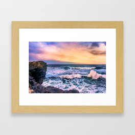 Sunset of the Bay of Biscay Framed Art Print