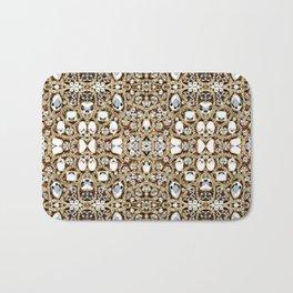 jewelry gemstone silver champagne gold crystal Bath Mat