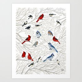 Winter Birds Art Print