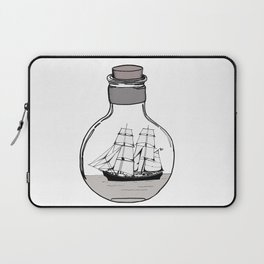 The ship in the glass bulb . Art . Laptop Sleeve