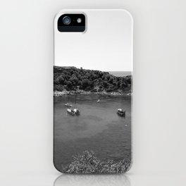 Rhodes Greece Anthony Quinn Bay black white iPhone Case
