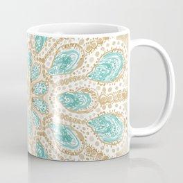 MMMOYSTERS Gold-Rimmed Oyster Mandala Coffee Mug