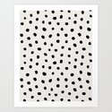 Modern Polka Dots Black on Light Gray by followmeinstead