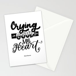 Crying is Good Stationery Cards