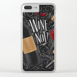 Wine not black Clear iPhone Case