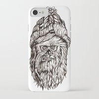 chewbacca iPhone & iPod Cases featuring Hipster Chewbacca  by LaurenNoakes
