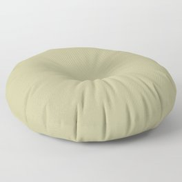Earthy Mid-Tone Pastel Green Solid Color Inspired by Behr Back to Nature 2020 Color of the Year Floor Pillow