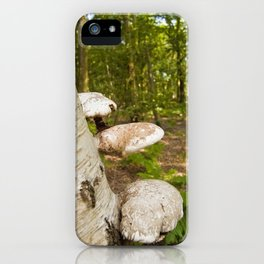 Forest wild mushrooms iPhone Case