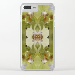 Orchid (Mandala-esque #123a) Clear iPhone Case
