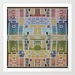 Moroccan Tile Boho Lace Geometric Art Print