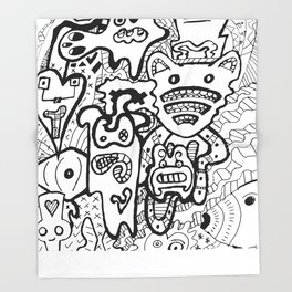 Mad Creativity Throw Blanket