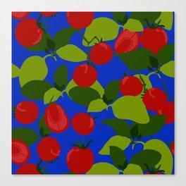 Tomato Basil Pattern Canvas Print