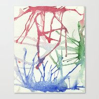 splatter Canvas Prints featuring Splatter by Alex Camp