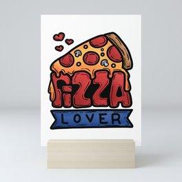 Pizza Love Italy Kitchen salami cheese gift Mini Art Print