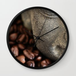 Coffee Buddha 4 Wall Clock