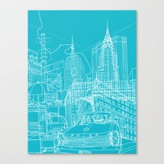 New York! Blueprint Canvas Print
