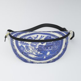 Vintage Blue Willow Plates Fanny Pack