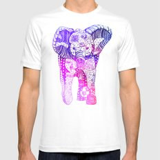 An Elephant Plays Soccer MEDIUM Mens Fitted Tee White