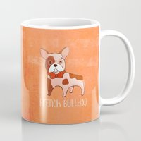frenchie Mugs featuring Frenchie by 52 Dogs