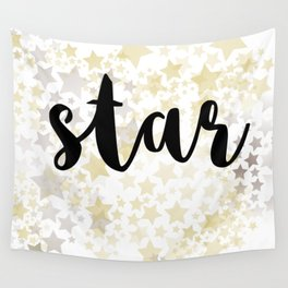 Golden Stars Wall Tapestry