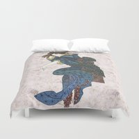 japanese Duvet Covers featuring japanese by Maria Durgarian