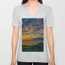 Sunset Sky Over Laguna Beach Unisex V-Neck