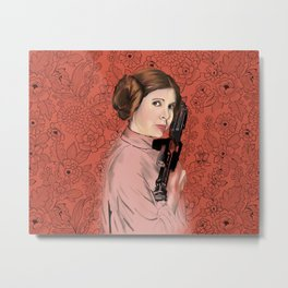 Princess Leia from StarWars Metal Print