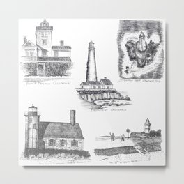 Little Lighthouses Metal Print
