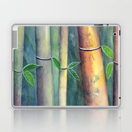 Magical Bamboo Forest Watercolor mixed media Laptop & iPad Skin