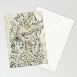 Vintage Map of Mount Everest (1921) Stationery Cards