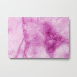 Purple Marble Art Metal Print