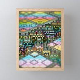 infrastructure IV. Pastel Pyramids Framed Mini Art Print