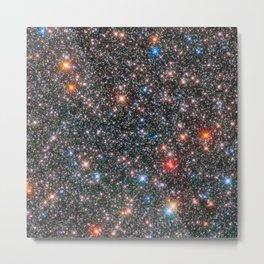 Glittering Milky Way Galaxy Bulge Telescopic Long Range Photograph Metal Print