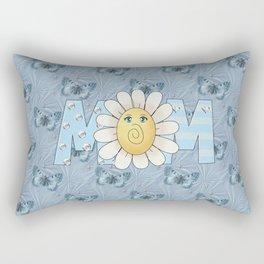 Dreamy Butterflies Roses and Mom Rectangular Pillow