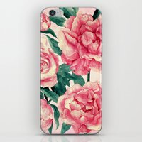 peonies iPhone & iPod Skins featuring Peonies by Lynette Sherrard Illustration and Design