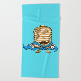 Captain Pancake's Mustache Beach Towel
