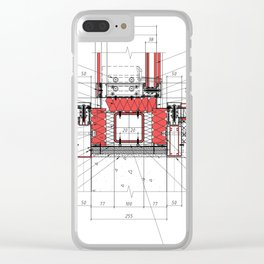 Real architectural detailed knot Clear iPhone Case