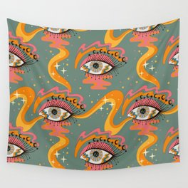Cosmic Eye Retro 70s, 60s inspired psychedelic Wall Tapestry