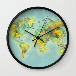 world map 112 #worldmap #world #map Wall Clock