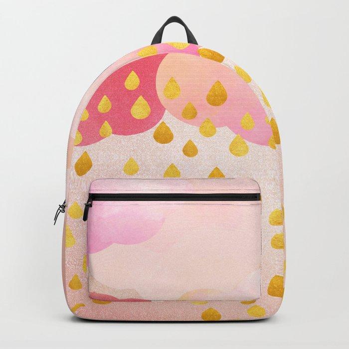 Rose gold rainshowers Backpack