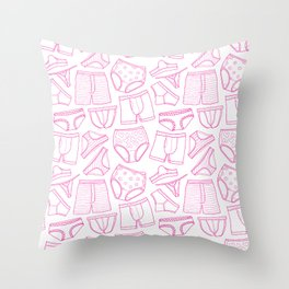 PillTalk - undies pattern Throw Pillow