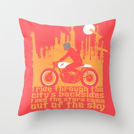 city's backsides Throw Pillow