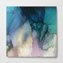 Pour your art out in sea green Metal Print