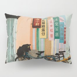 Bicycle Shadows Pillow Sham
