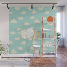 Balloons that Fly Wall Mural