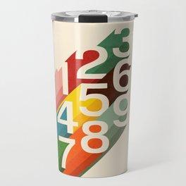 Retro Numbers Travel Mug